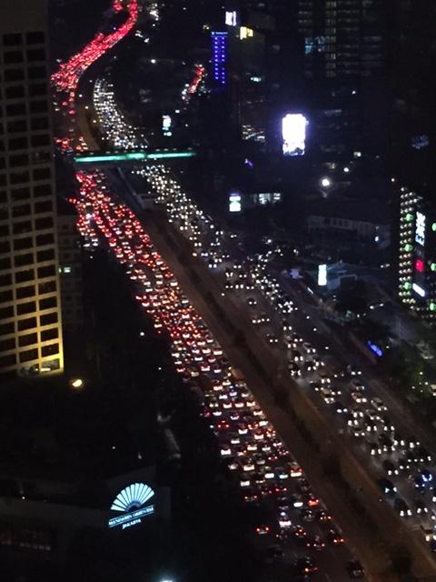 ジャカルタ市内の渋滞